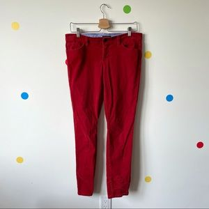 Tommy Hilfiger Size 8 Corduroy Red Woman Pants
